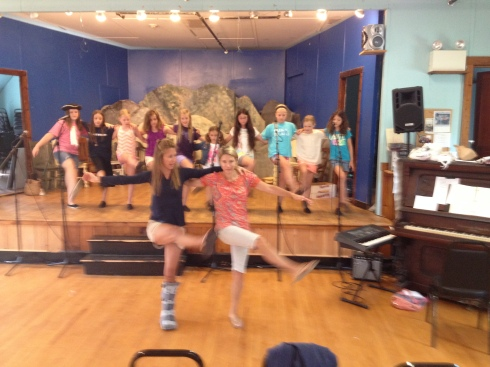 Everyone helps out with choreography! Thanks to parents Kristie and Katherine!